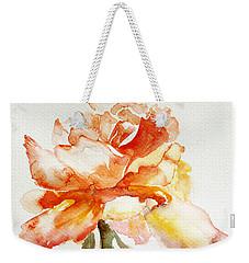 Rose Yellow Weekender Tote Bag by Jasna Dragun