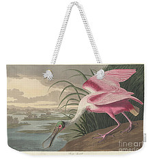 Roseate Spoonbill, 1836  Weekender Tote Bag by John James Audubon