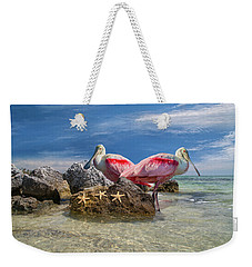 Roseate Spoonbill Florida Keys Weekender Tote Bag