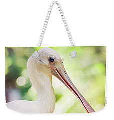 Roseate Spoonbill Weekender Tote Bag by Heather Applegate