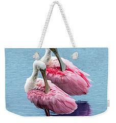 Roseate Spoonbill Pair Weekender Tote Bag