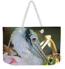 Roseate Spoonbill Profile Weekender Tote Bag