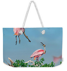 Roseate Spoonbills Weekender Tote Bag