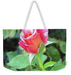 Rosebud Weekender Tote Bag by Mary Ellen Frazee