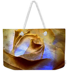 Weekender Tote Bag featuring the photograph Rosebud - Till We Meet Again by Janine Riley