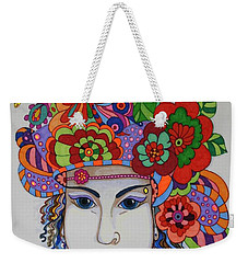 Weekender Tote Bag featuring the painting Rosemary by Alison Caltrider