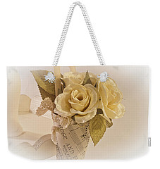 Roses And Butterfly Posy  Weekender Tote Bag by Sandra Foster