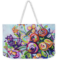 Roses And Kumquats Weekender Tote Bag by Kristin Whitney