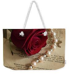 Roses And Pearls Weekender Tote Bag by Jaroslaw Blaminsky