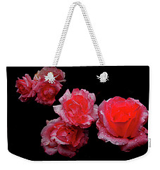 Roses And Rain Weekender Tote Bag