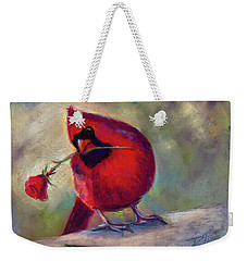 Weekender Tote Bag featuring the painting Roses Are Red And So Am I  by Billie Colson