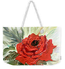 Roses Are Red Weekender Tote Bag by Dorothy Maier