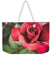Weekender Tote Bag featuring the photograph Roses Are Red by Parker Cunningham