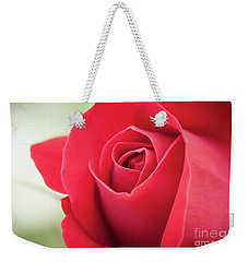 Weekender Tote Bag featuring the photograph Roses Are Red by Todd Blanchard