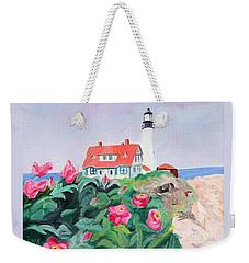 Roses At Portland Headlight Weekender Tote Bag