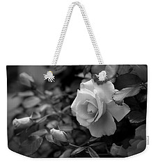 Weekender Tote Bag featuring the photograph Roses - Bw by Beth Vincent