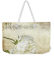 Roses Weekender Tote Bag by Carolyn Marshall