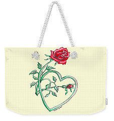 Roses Hearts Lace Flowers Transparency       Weekender Tote Bag