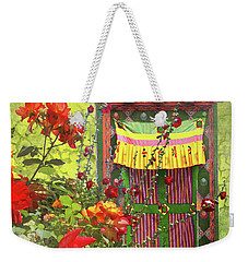 Weekender Tote Bag featuring the photograph Roses In Bhutan by Jeff Burgess