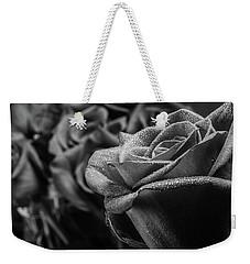 Roses In Black And White Weekender Tote Bag