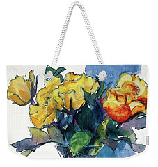 Roses In Vase Still Life I Weekender Tote Bag