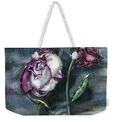 Roses Never Die Weekender Tote Bag by Nadine Dennis
