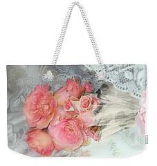 Roses On My Pillow Weekender Tote Bag