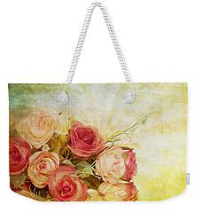 Roses Pattern Retro Design Weekender Tote Bag