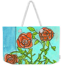Roses R Red Weekender Tote Bag