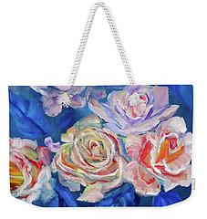 Roses, Roses On Blue Weekender Tote Bag
