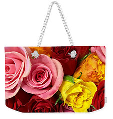 Roses Spell The Beauty Of My Son's Love Weekender Tote Bag