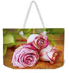 Roses Three Weekender Tote Bag