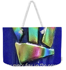 Weekender Tote Bag featuring the photograph Rosh Hashanah With Mezuzah by Linda Feinberg