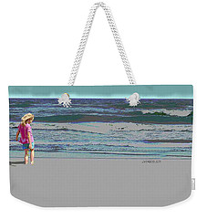 Rosie On The Beach Weekender Tote Bag
