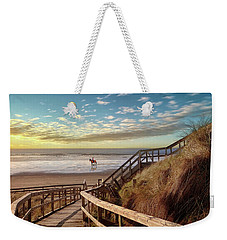 Rossnowlagh Beach At The End Of The Day - With A Horse Weekender Tote Bag