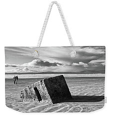 Rossnowlagh Beach - The Old Wartime Fortifications Sinking In The Sand With A Dramatic Sky Weekender Tote Bag