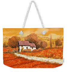 Rosso Papavero Weekender Tote Bag by Guido Borelli