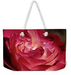 Rosy Closeup Weekender Tote Bag