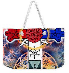 Rosy Cross Weekender Tote Bag