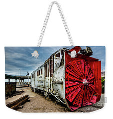 Weekender Tote Bag featuring the photograph Rotary Snow Plow Vintage Train - Utah by Gary Whitton