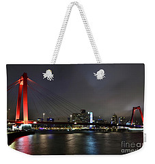 Rotterdam - Willemsbrug At Night Weekender Tote Bag