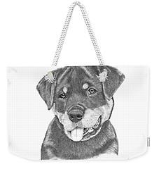 Rottweiler Puppy- Chloe Weekender Tote Bag