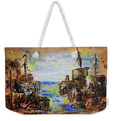 Rough Country Abstract Weekender Tote Bag