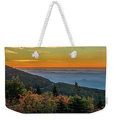 Rough Morning - Blue Ridge Parkway Sunrise Weekender Tote Bag