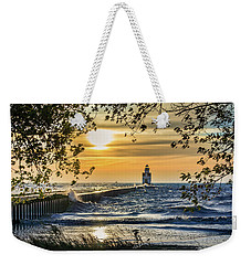 Weekender Tote Bag featuring the photograph Rough Opening by Bill Pevlor