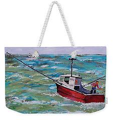 Rough Sea Weekender Tote Bag