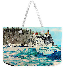 Rough Water At Split Rock Weekender Tote Bag