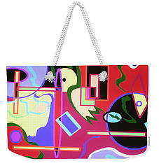 Round And Round And Upside Down Weekender Tote Bag by Vickie G Buccini
