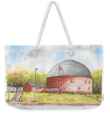 Round Barn In Route 66, Arcadia, Oklahoma Weekender Tote Bag