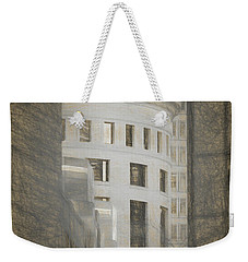 Round In A Square World Weekender Tote Bag